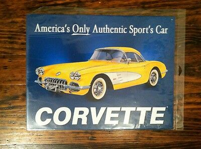 Corvette Reproduction Collectible Metal Sign