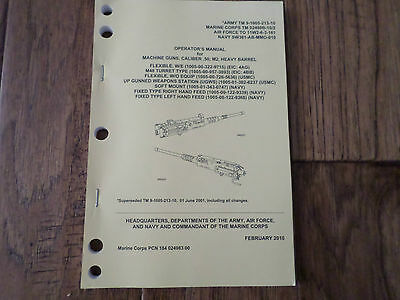 Department Of The Army Operator's Manual .50 Caliber M2 Heavy Barrel