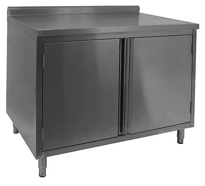 "ACE 18gauge All S/S 4"" Rear Upturn Cabinet w/Hinged Doors 30""x60""x35"" CTD-P3060H"