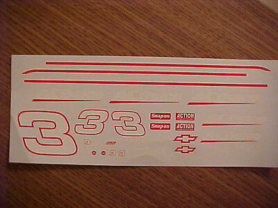 New 1996 Dale Earnhardt #3 Japan / Ac Delco 1/24 Scale  Water Slide Decal Sheet
