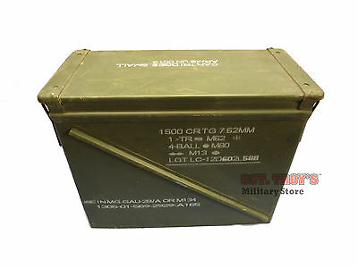 USGI 20mm AMMO CAN M548 1500 ROUNDS 7.62 METAL LARGE AMMO CAN EXCELLENT