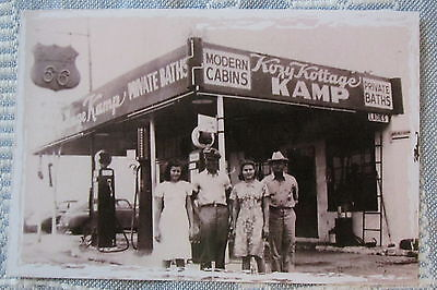 1940's Kozy Kottage Kamp in Adrian Texas on Route 66 reproduction Post Card NEW!