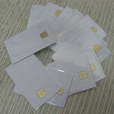 5pcs,white PVC card with SLE4428 4428 chip contact smart card , contact IC card