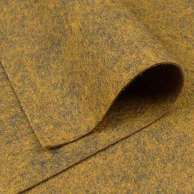 Woolfelt Havana Gold ~ 22cm x 90cm / felt fabric wool golden brown quilting
