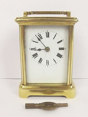 Circa 1907 Brass Carriage Cased Clock - Serviced
