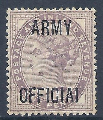 sg043c variety 1d Lilac 'ARMY OFFICIAL' overprint short L UNMOUNTED MINT