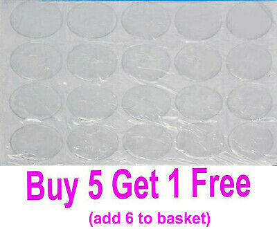 10 x Round Oval or Square Epoxy Resin Clear Self Adhesive Cabochon Sticker