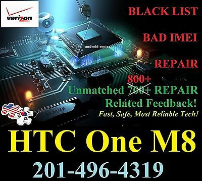 ❌HTC One M8 VERIZON BAD IMEI REPAIR for GSM HACK!!! *MAIL IN ONLY!*