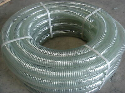 "2"" x 20M Zembrone Clear PVC Steel Suction Hose"
