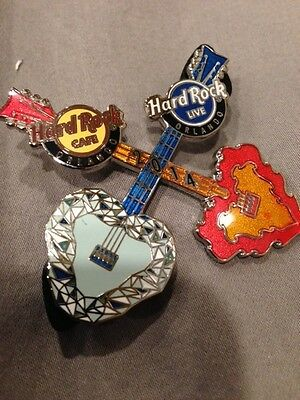 Hard Rock Cafe Hard Rock Live Orlando Double Guitar 2014 Pin