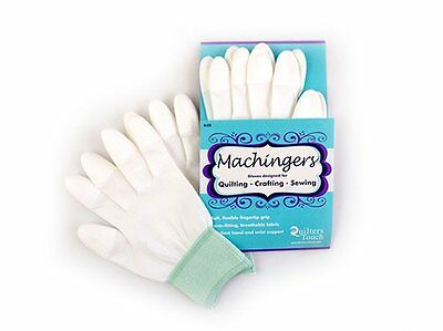 Machingers Machine Quilting Gloves - White, Choose your Size