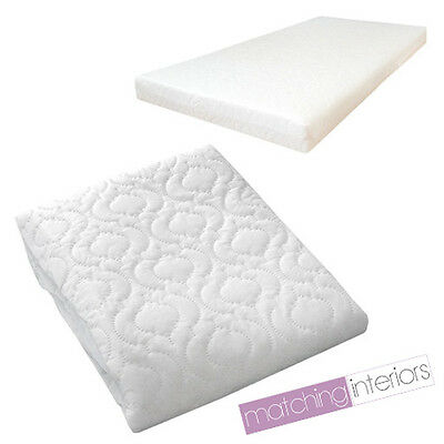 Quilted Baby COT BED MATTRESS Fully Breathable 140 X 70 X 5CM Cover Only