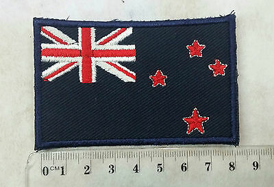New Zealand Flag Embroidered Sewn On Patch New