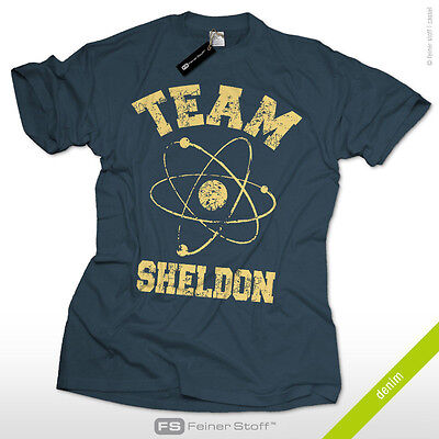 Team Sheldon Fan T-Shirt as seen @ TV Nerd big bang theory Cooper Leonard Penny