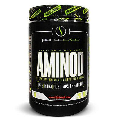 Purus Labs AminoD Jolly Watermelon Post-Workout (40 Servings) (Best By 01/2018)