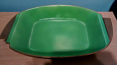 Lovely Carlton Ware Green & Gold Art Deco Bowl. M17/2707 3843. Shape 1341/1