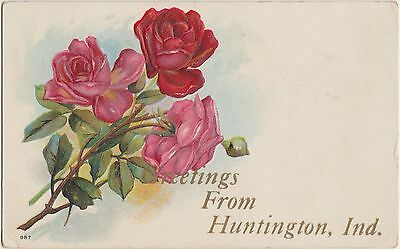 Indiana In Postcard c1910 HUNTINGTON Greetings From...