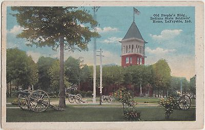 Indiana In Postcard 1917 LAFAYETTE Old Peoples Building STATE SOLDIERS HOME