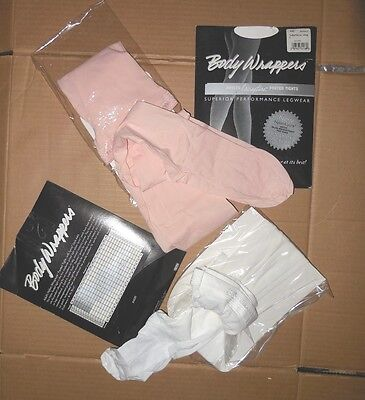 NEW Body Wrappers C40 A40 Textured nylon lycra tights child/ladies run resistant