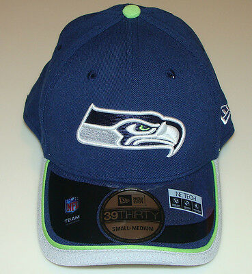 New Era Hat Cap NFL Football Seattle Seahawks New Era On-Field 39THIRTY L/XL