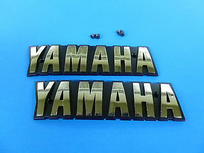 New Fuel Gas Tank Badges Emblems XS650 *READ* Genuine Yamaha Parts E0040 E0040