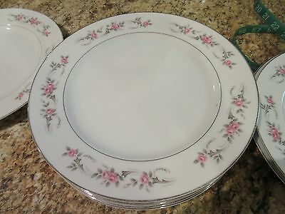 """Pagent by Diamond China  ~ Dinner Plates 10 1/4"""" ~ Made in Japan  Set of 8"""