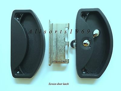 Sliding screen door lock latch with stainless strike & external handle