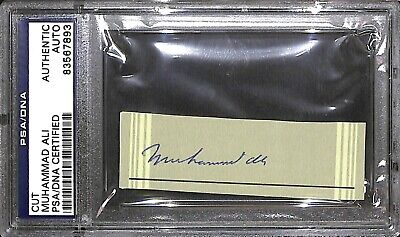 Muhammad Ali Signed Cut PSA/DNA COA Boxing Autograph Fought Sonny Liston 1964 65