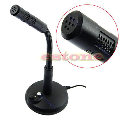 360° Rotate Dynamic USB 2.0 Mic Black Microphone For Desktop Laptop PC Computer