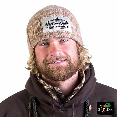 Rig'em Right Waterfowl Heavy Weight Knit Beanie Skull Cap Hat Winter Harvest