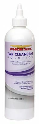Ear Cleansing Solution for Dogs & Cats 12oz Removes Wax Keep Ears Clean Phoenix