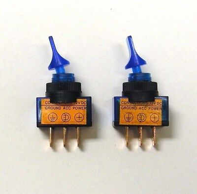 6 BBT Marine Grade Lighted Blue LED On//Off 20 amp Toggle Switches