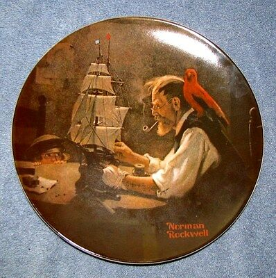 NORMAN ROCKWELL The Shipbuilder Collectible Plate Limited Edition 1980 Knowles
