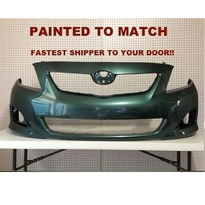 Fits; 2009 2010Toyota Corolla Front Bumper Painted to Match (TO1000343)