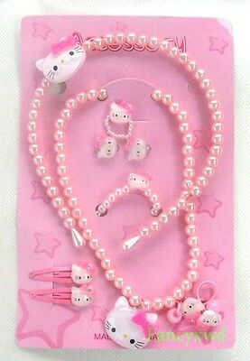 Free shipping high fashion Cute Pink Cat hair accessories,wholesale Sets 10 pcs