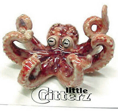 ➸ LITTLE CRITTERZ Aquarium Fish Tank Miniature Figurine Octopus Jet