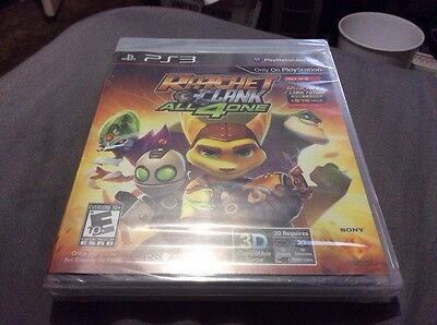 RATCHET AND CLANK: ALL 4 ONE (Sony Playstation 3, 2011) NEW