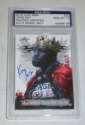 King Mo Muhammed Lawal Signed 2010 Leaf MMA Card PSA/DNA Gem Mint 10 Auto'd UFC
