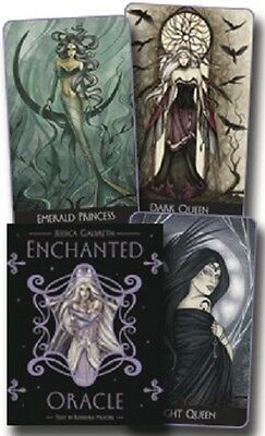Enchanted Oracle New Sealed 240 pages book 36 Color Cards Jessica Galbreth Art