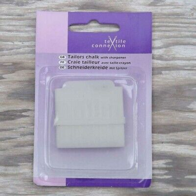 Tailors Chalk With Holder And Sharpener Marking Fabric Guide Sewing BUY 1 2 4