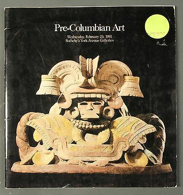 Sothebys Pre-Columbian Art NY February 1981 with prices