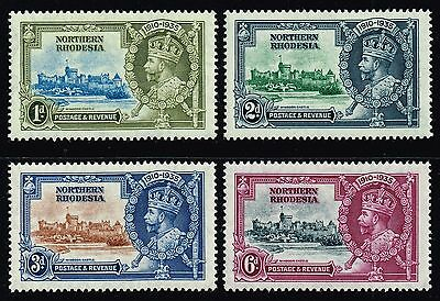 Northern Rhodesia 1935 Silver Jubilee (incl. 1d. dash by turret), MH (SG#18/21)