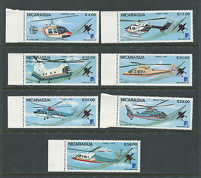 Nicaragua  1988  #1711-7  aviation helicopters  7v.  MNH  D989
