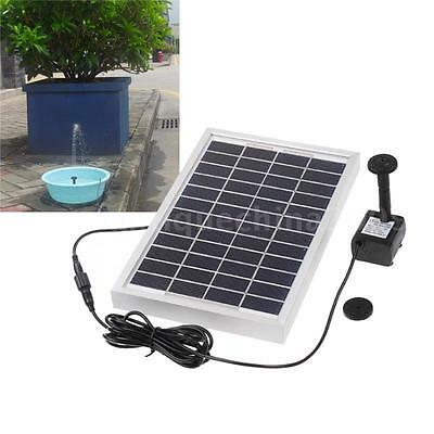 Solar Power Fountain Pond Water Pump Brushless 29 x 25cm Square 12V 5W 380L/H