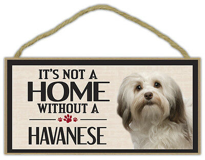 Wood Sign: It's Not A Home Without A HAVANESE   Dogs, Gifts, Decorations