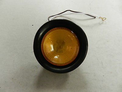 """Truck Trailer Amber Sealed 2"""" Round Clearance Marker Light w/Grommet and plug"""