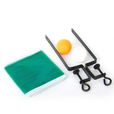 Table Tennis Net Post Clamp Stand Holder Set Ping Pong Replacement Mesh +2 BALLS