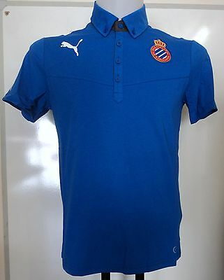 Espanyol Rcd Blue Polo Shirt By Puma Adults Size Small Brand New With Tags