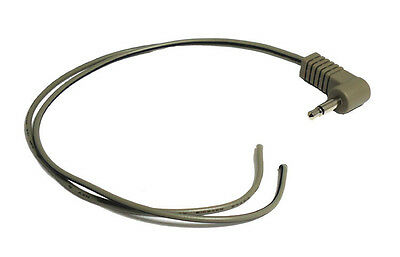 3.5mm mono jack plug to bare wire ends  200mm long  right angle