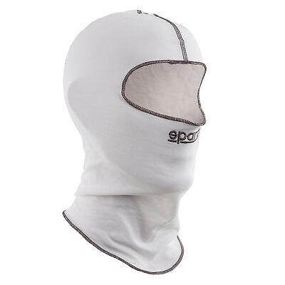Sparco Softknit Go Kart/Karting/Racing/Motorsport Open Face Balaclava - White